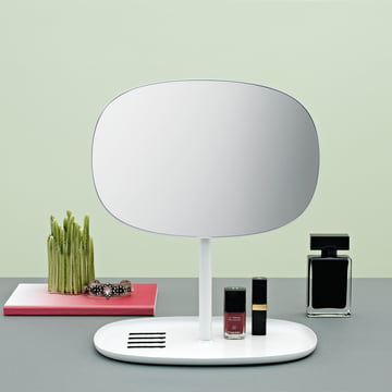Practical Mirror and Shelf - Flip Mirror in white by Normann Copenhagen