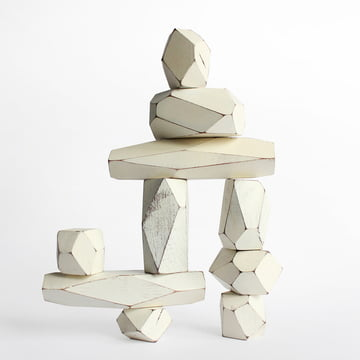 Areaware - Balancing Blocks wooden toys, white