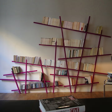 Edition Compagnie - Mikado bookshelf, large, small, pink