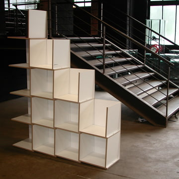 Jonas Jonas - Tri Modules Shelf, white - inclined