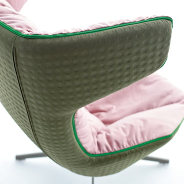 Moroso - take a line for a walk - leather, green/rose