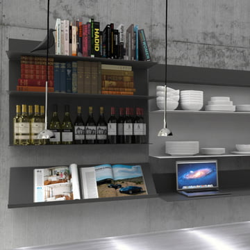 Frost - Unu Shelving system, ambience image kitchen