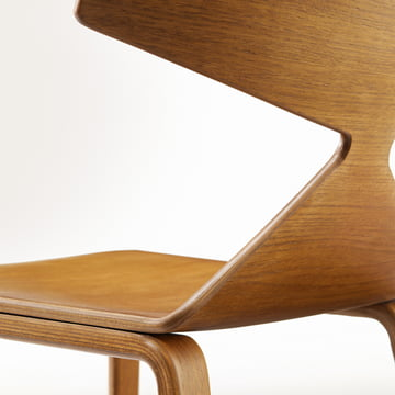 Arper - Saya Chair, wooden legs - Details, back