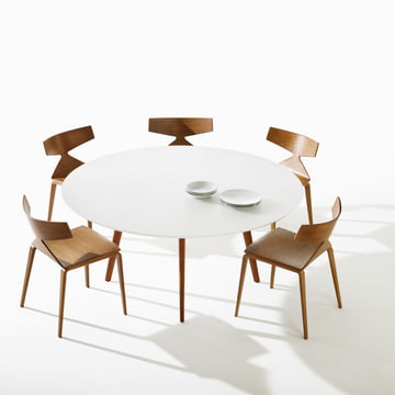 Arper - Saya Chair - at table