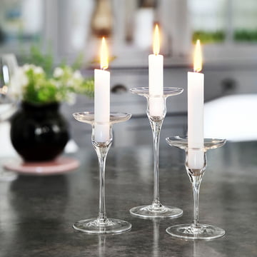 Holmegaard - Cabernet candle holders, all sizes