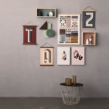 Wall decorations and side table by ferm Living