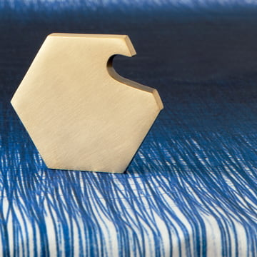ferm Living - Pen Table Cloth, blue - close-up