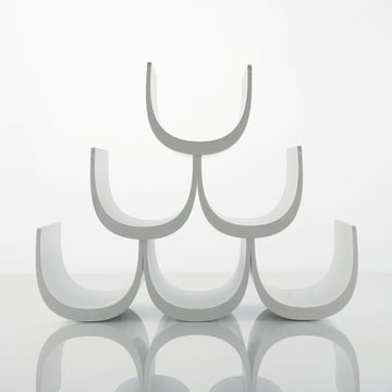 Alessi - Noè Modular bottle rack with modular system, empty, white
