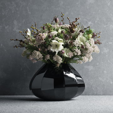 Georg Jensen - Facet Vase medium, black
