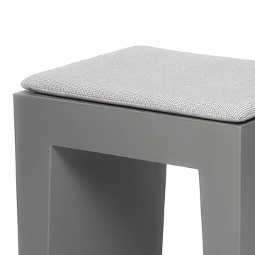Fatboy - Concrete seat, grey, cushion crosshatch-grey