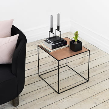 by Lassen - Line Candleholder, Twin Side Table