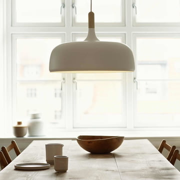 The Acorn Pendant Lamp by northernlighting in white
