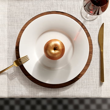 Kahla - Magic Table Service, white, bronze-coloured apple