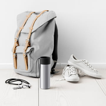 Eva Solo - To Go thermos cup, next to backpack