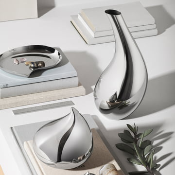 Georg Jensen - Bloom Tray, with Carafe and Bonbonniere