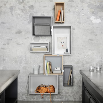 Muuto - Stacked Shelving System, grey