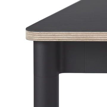 Base Table by Muuto in black