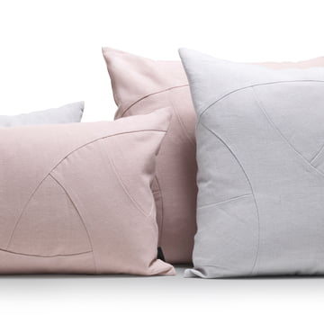The by Lassen - Flow cushions in pink and grey