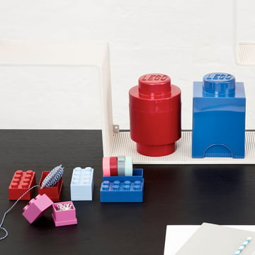 Lego - Storage Brick, red, blue