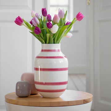 Ceramic vase for tulips