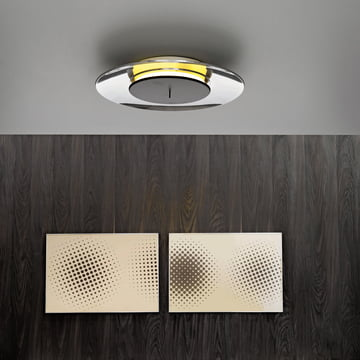 Adjustable LED wall lamp by FontanaArte in polished aluminium