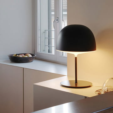 Cheshire Table Lamp by FontanaArte in black