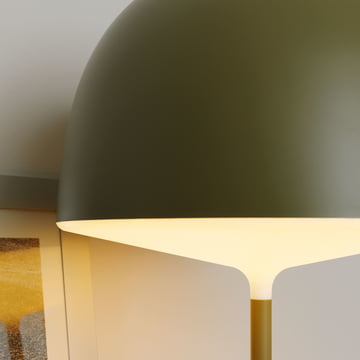 Cheshire Table Lamp by FontanaArte in green