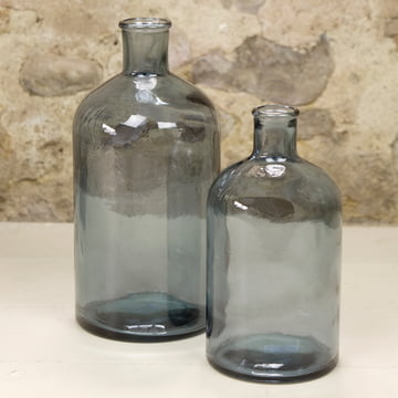 Retro glass vases by Novoform in blue