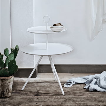 Steward side table by Norrmade in white (2-storied)