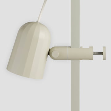 White clamp lamp with adjustable head