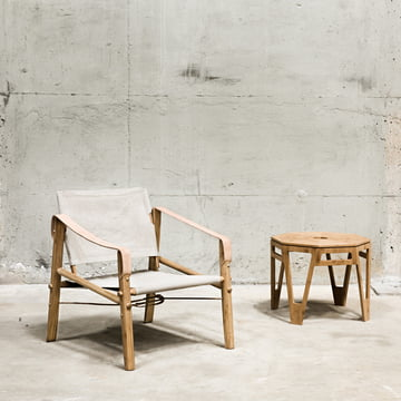 Chair and table made of bamboo wood