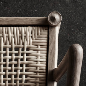 Armchair with Hand-woven Backrest
