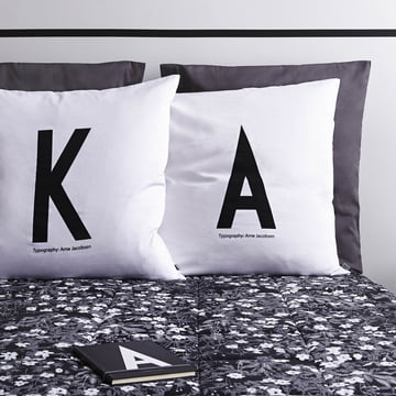 Letter pillows with AJ Vintage Flowers Bedspread