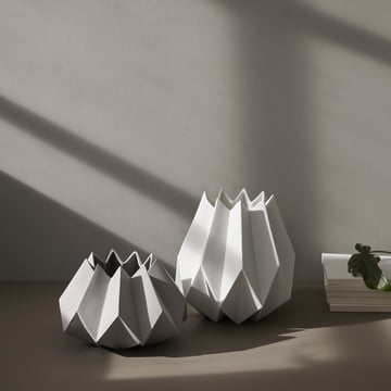 The Folded Vases in white by Menu