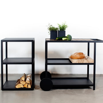 Sideboard and trolley for indoors and outdoors
