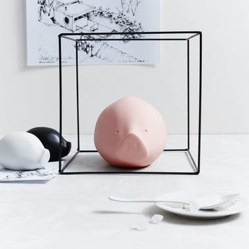 The Roro collection in rosé, black and white by Rosenthal.