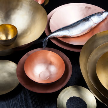 Form Bowl by Tom Dixon made of brass and copper