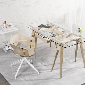 The Wick Chair Wood and Arco Desk