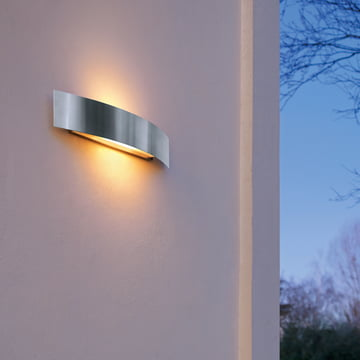 Riga outdoor wall lamp with dual-light emission
