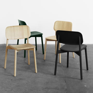 The Hay - Soft Edge Chair in oak / black / green