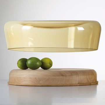 The Double Bowl in oak oiled / glass amber from Peruse