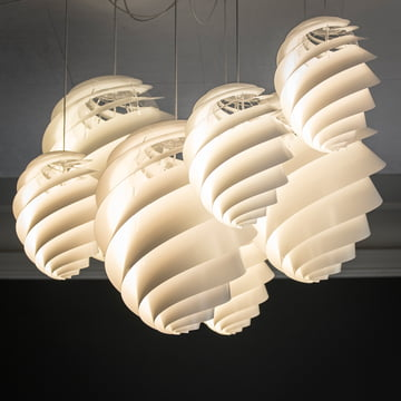 Group of Oval Swirl Pendant Lamps