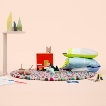 Hay - Pinocchio Rug, S & B Colour Block Bedding, Spirograph Drawing Set, Wooden Wonderland, Pieces N play and Twins by Hay
