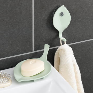 Sense Wall Hooks and Soap Dish by Koziol
