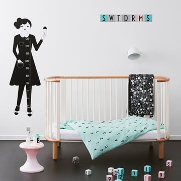 Design Letters - AJ Baby Bed Linen, mint green / Kids Collection