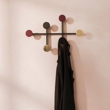 Afteroom Coat Hanger by Menu in Black, Red and Brass