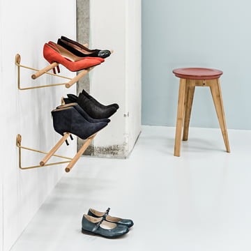Shoe Rack and Button Stool by We Do Wood