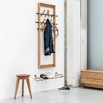 Shoe Rack, Button Stool and Coat Frame by We Do Wood