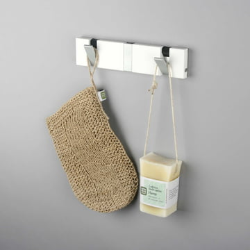 Knax Lite 3 coat hooks by LoCa in white
