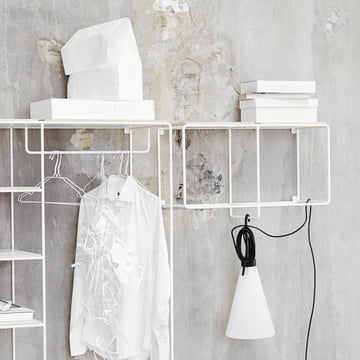 Korridor - AnyWhere 1 x 2 wall shelf with coat rack